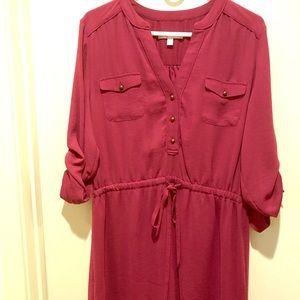 Banana Republic Burgundy Dress XL